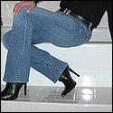 Lange Beine in sexy Jeans